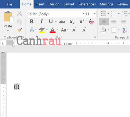 Viết phân số trong Word bằng tổ hợp phím Ctrl + F9 hình 1