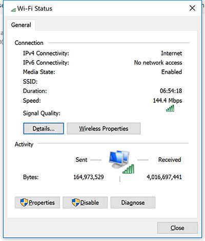 Xem mật khẩu Wifi Windows 10 bằng Network And Internet Settings 3