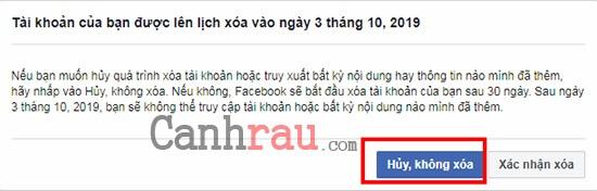 Xóa tài khoản facebook vĩnh viễn trên máy tính hình 6
