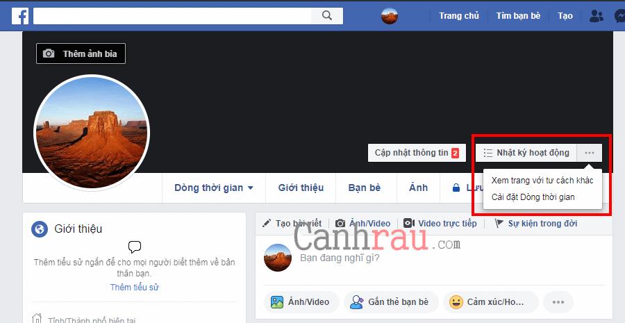 bật chế độ theo dõi công khai facebook hình 1