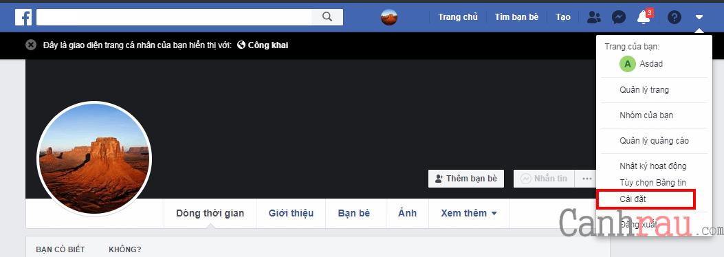 bật chế độ theo dõi công khai facebook hình 3