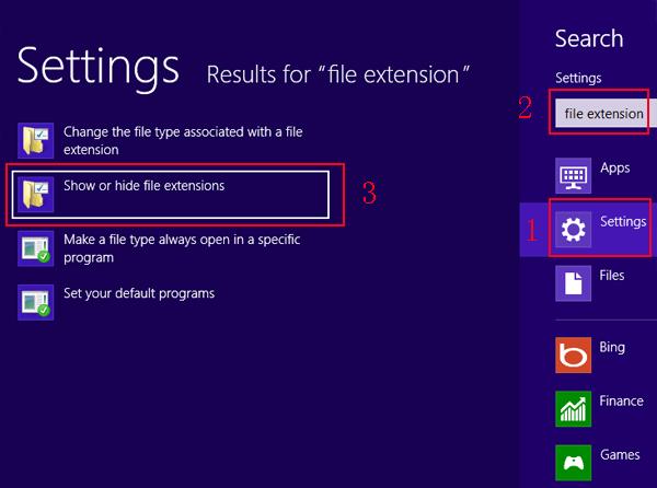 Cách hiển thị đuôi file trên máy tính hình 1