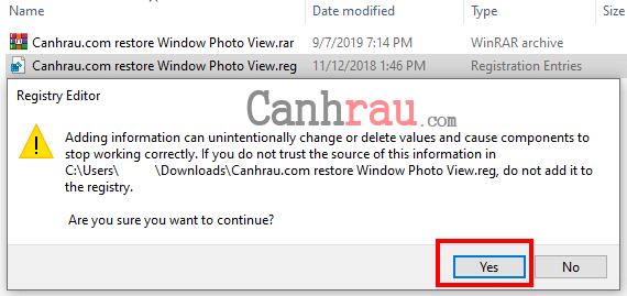 cài đặt photo viewer cho windows 10 hình 1