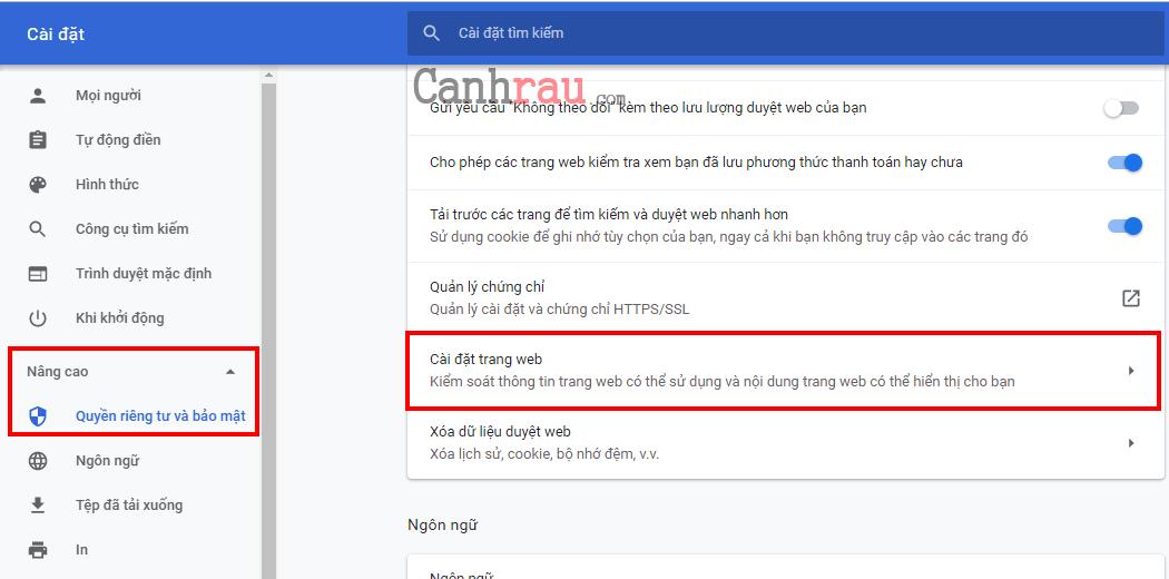 chặn các trang web tự mở hình 2