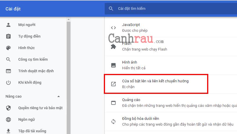chặn các trang web tự mở hình 6