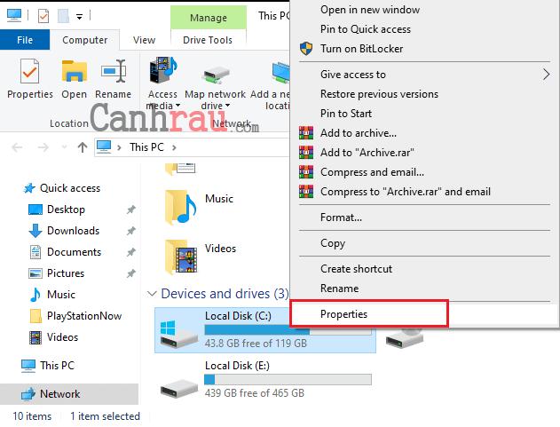 chống phân mảnh ổ cứng Windows 10 hình 1