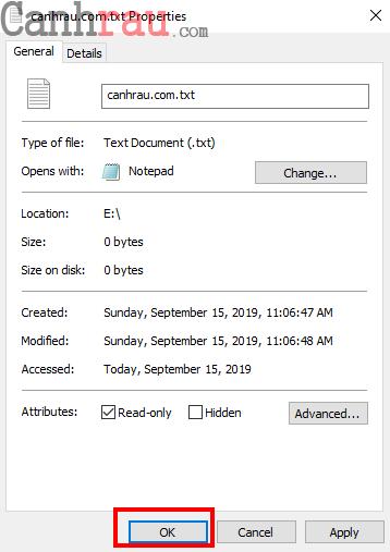 file tên dài the disk is write protected hình 1