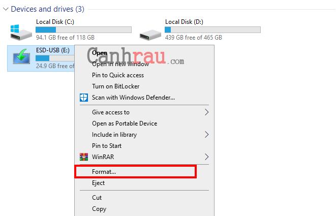 format usb sửa lỗi disk protected hình 2