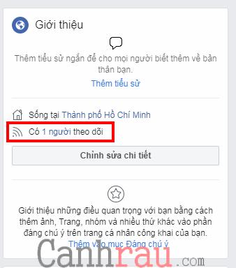 hiển thị số người theo dõi facebook trên trang cá nhân hình 3