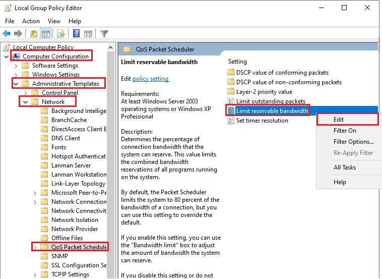 hướng dẫn tăng tốc độ mạng Windows 10 hình 2