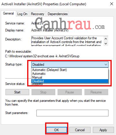 hướng dẫn tắt service dịch vụ không sử dụng Windows 10 7 hình 3