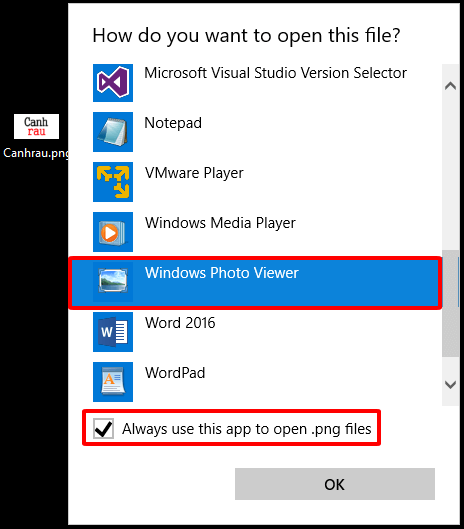 Lấy lại Windows photo viewer sau khi upgrade