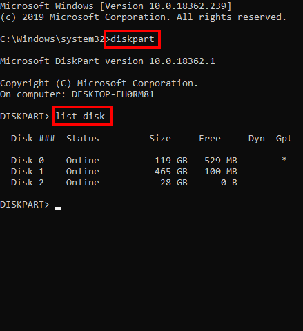 sửa lỗi the disk is write protected bằng cmd hình 2