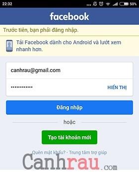 tạm khóa facebook bằng điện thoại iphone ipad samsung hình 1