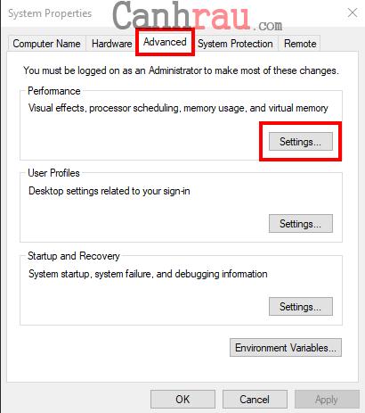 tăng tốc laptop windows 10 hình 1