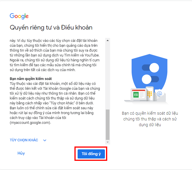 tạo gmail không cần số điện thoại hình 3