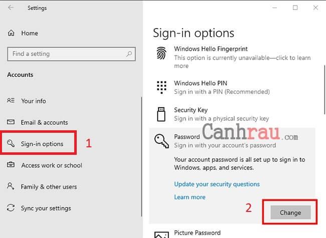 tắt mật khẩu Windows 10 bằng tài khoản Microsoft hình 2