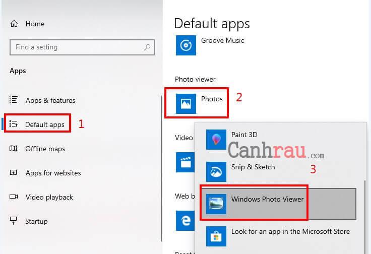 trình xem ảnh mặc định Windows photo viewer hình 2