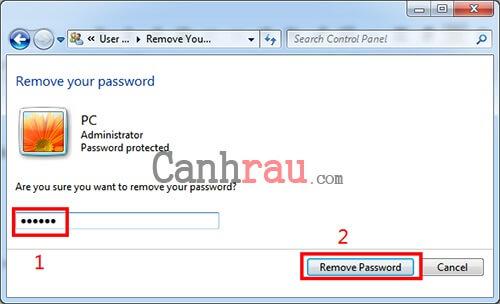 Gỡ bỏ mật khẩu máy tính Windows 7 hình 4