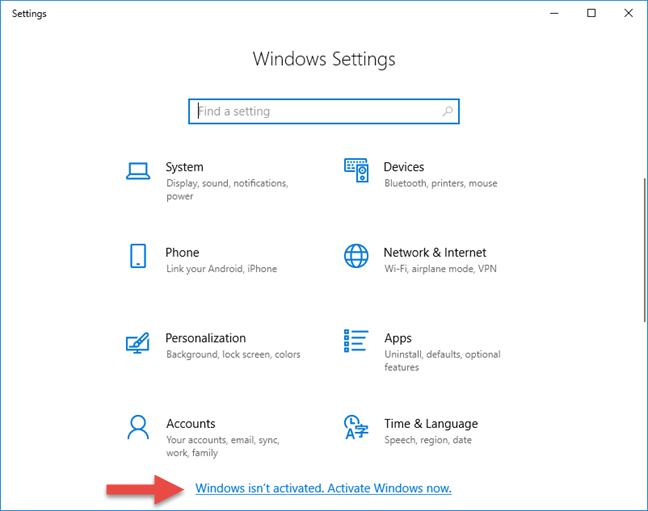 Cách kiểm tra Windows 8.1 active bằng PC Settings