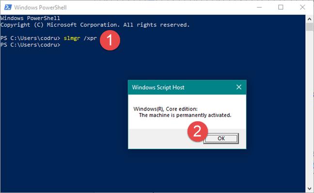 cách kiểm tra Windows active bằng cmd powershell hình 1