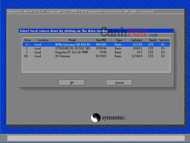Cách tạo file ghost windows 10 không cần đĩa hình 2