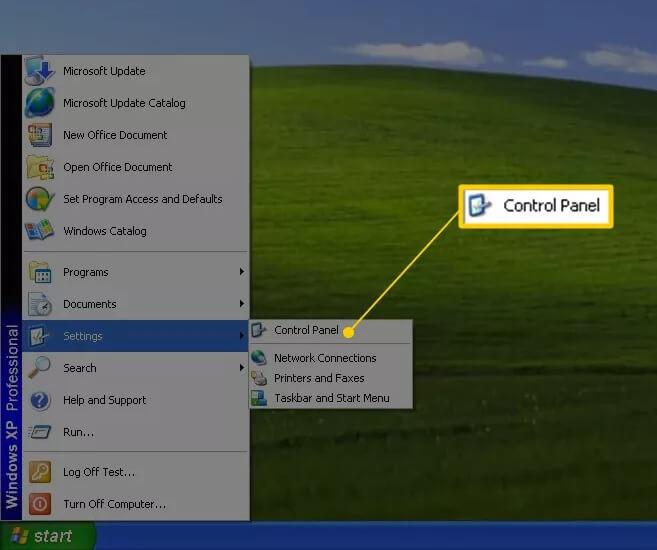 Cách mở control panel windows 7 xp vista hình 2