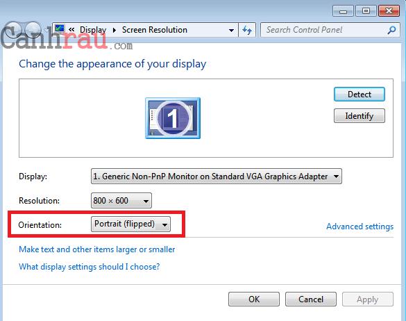 Cách xoay màn hình máy tính Windows 10 8.1 7 hình 10