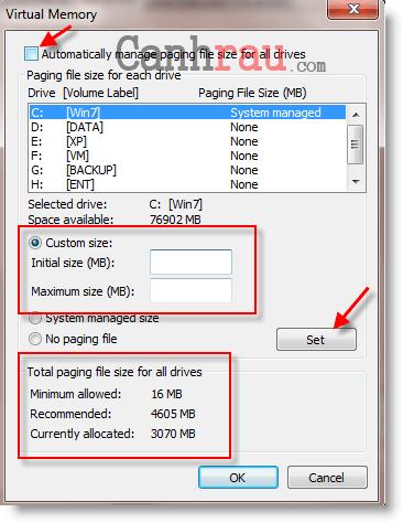 Hướng dẫn tăng tốc máy tính Windows 7 hình 5