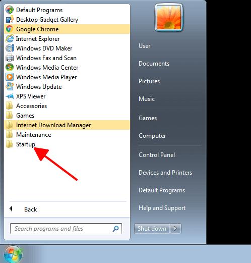 Tắt các phần mềm tự khởi động Windows 7 hình 2