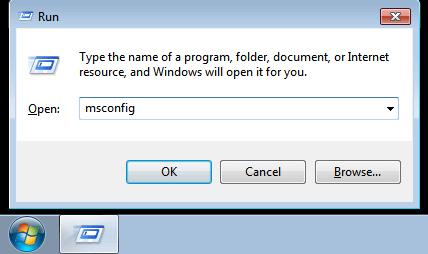 Tắt các phần mềm tự khởi động Windows 7 hình 3