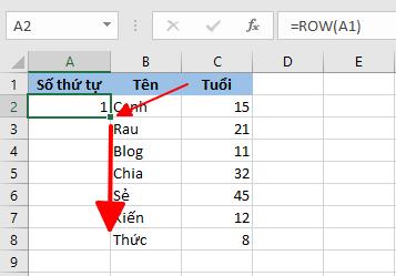 Hướng dẫn đánh số thứ tự tự động trong Excel hình 9