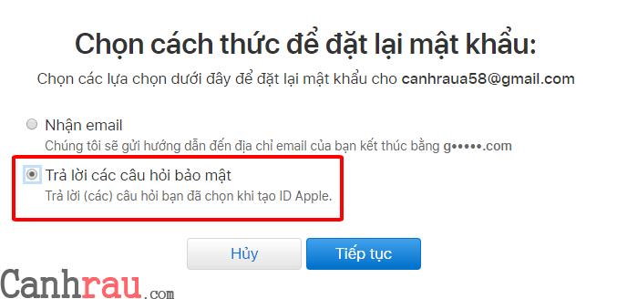 Cách lấy lại mật khẩu icloud hình 3