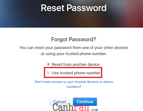 Cách reset appleid khi quên mật khẩu hình 7
