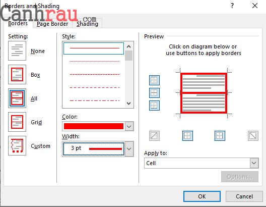 Cách tạo border trong microsoft word hình 8