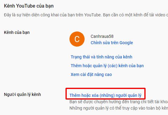 Cách tạo tài khoản youtube thương hiệu hình 7