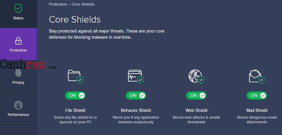 Cách tắt avast và các tính năng bảo vệ hình 2