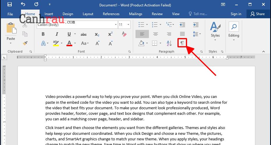 Cách xóa trang trắng trong Word hình 1