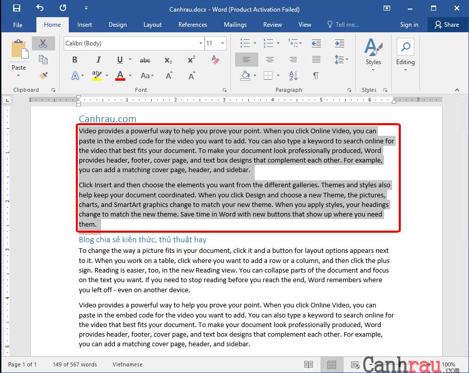 Cách xóa trang trắng trong Word hình 2
