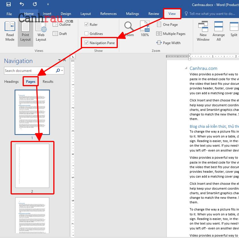 Cách xóa trang trắng trong Word hình 4