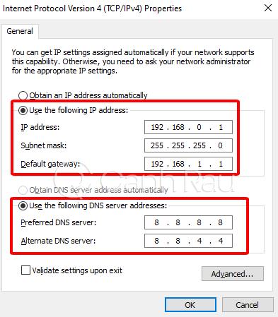 Hướng dẫn cách thay đổi địa chỉ IP hình 5