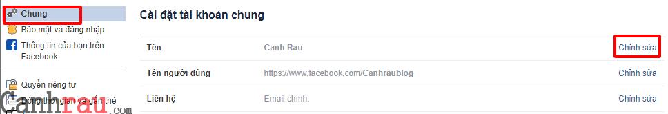 Hướng dẫn đổi tên profile facebook hình 2
