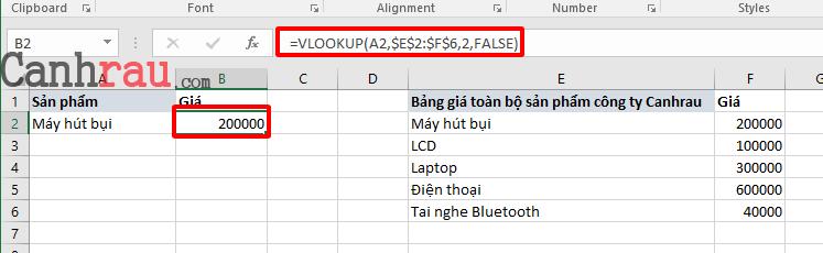 Hướng dẫn sử dụng cơ bản cách sử dụng hàm vlookup hình 1