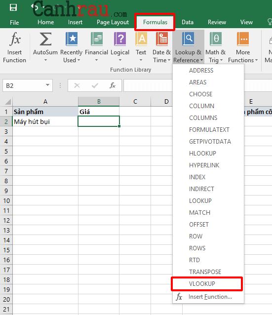 Hướng dẫn sử dụng cơ bản cách sử dụng hàm vlookup hình 3