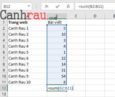Tổng hợp các hàm cơ bản thông dụng trong Excel hình 3