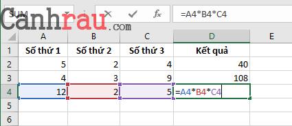 Tổng hợp các hàm cơ bản thông dụng trong Excel hình 7