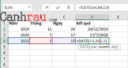 Tổng hợp các hàm cơ bản thông dụng trong Excel hình 9