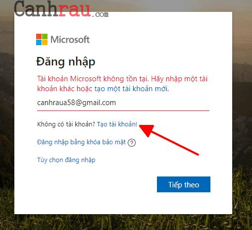 Cách tạo tài khoản Microsoft hình 3