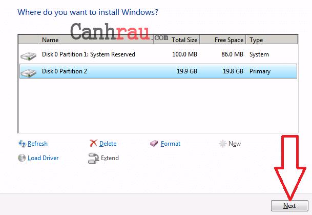 Cách cài lại Windows 7 bằng USB hình 12