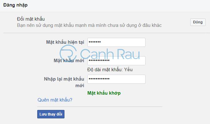 Cách đổi mật khẩu Facebook hình 4